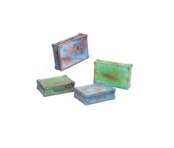 Vallejo Metal Suitcases - 4 Pieces (1/35) (SC226)
