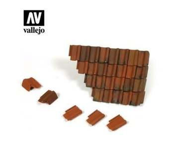 Vallejo Damaged Roof section & Tiles (1/35) (SC230)