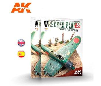 AK Interactive Wrecked Planes - Aviones Destrozados - Bilingual