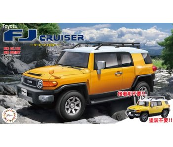 Fujimi 1/24 Toyota FJ Cruiser (Two-tone Yellow) Pre-painted Snap fit Kit