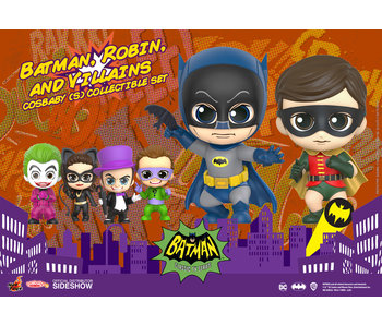 Batman, Robin, and Villains Cosbaby(S) Collectible Set - Batman Classic TV Series (Hot Toys)