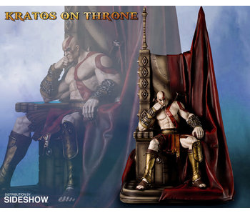 Kratos on Throne Statue (Gaming Heads)
