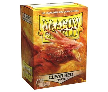 Dragon Shield Sleeves Matte Clear Red(100)