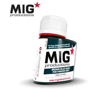 MIG Brown Blue Wash for Panzer Grey 75ml (P285)