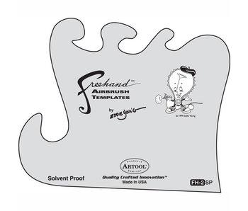 Iwata Artool Fh2 Freehand Airbrush Template