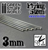 Green Stuff World GSW Acrylic Rods - Round 3 mm CLEAR