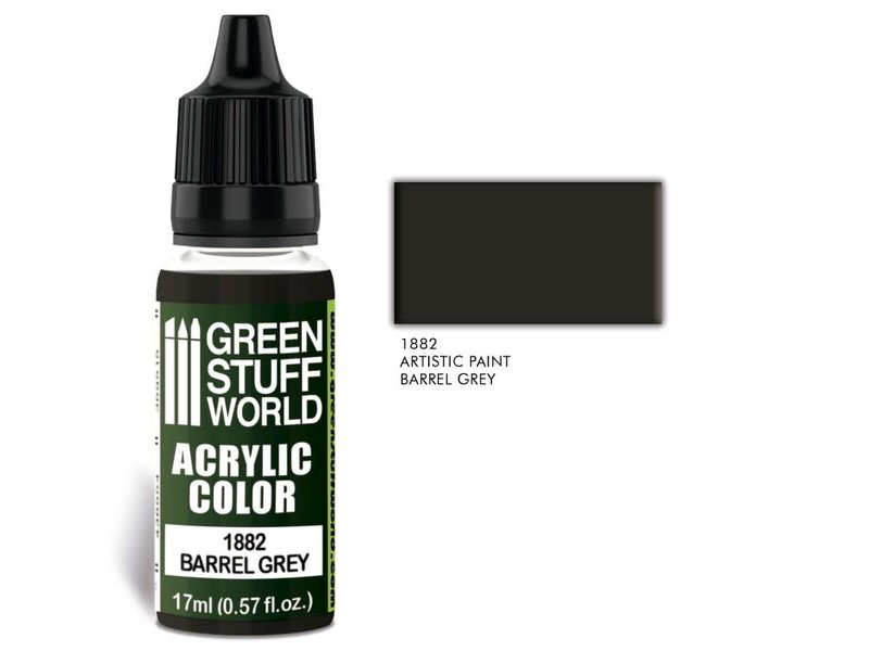 Green Stuff World GSW Acrylic Color BARREL GREY (1882)