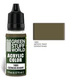 Green Stuff World GSW Acrylic Color GENGIS KHAKI (1883)