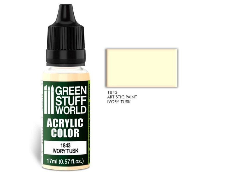 Green Stuff World GSW Acrylic Color IVORY TUSK (1843)