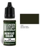 Green Stuff World GSW Acrylic Color MILITARY GREEN (1848)