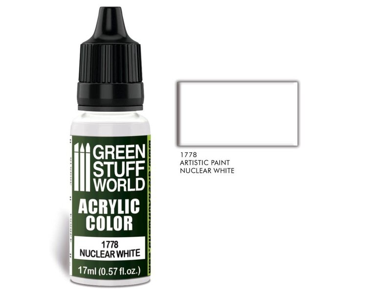 Green Stuff World GSW Acrylic Color NUCLEAR WHITE (1778)
