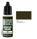 Green Stuff World GSW Acrylic Color OLIVE-BROWN OPS (1887)