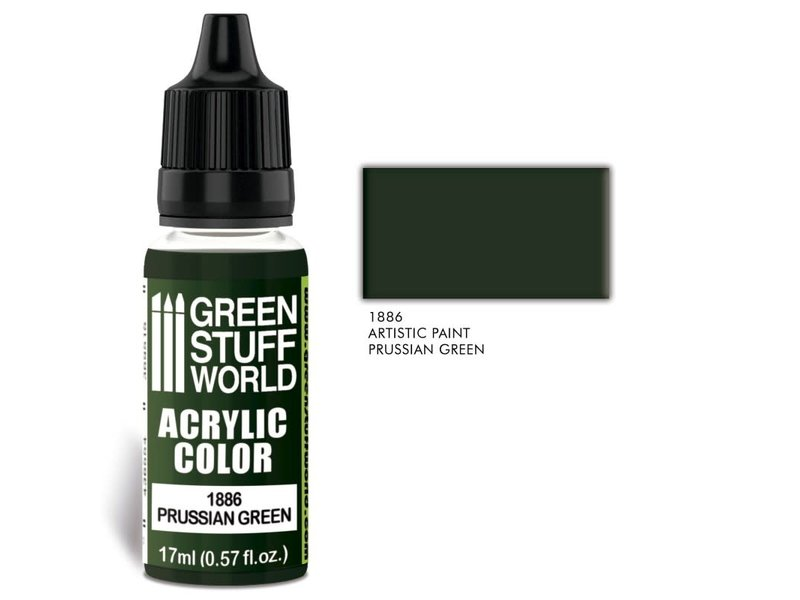 Green Stuff World GSW Acrylic Color PRUSSIAN GREEN (1886)