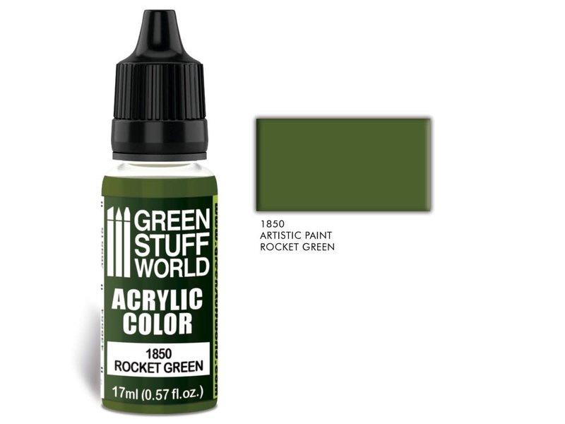 Green Stuff World GSW Acrylic Color ROCKET GREEN (1850)