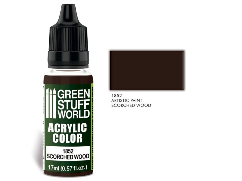 Green Stuff World GSW Acrylic Color SCORCHED WOOD (1852)