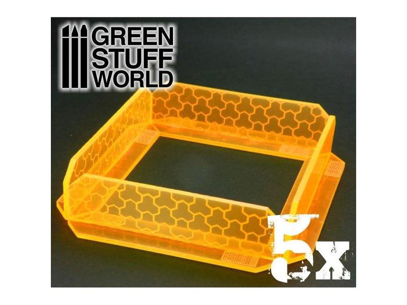 Green Stuff World GSW 5x Small Energy Walls - Phosphorescent Orange