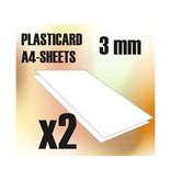 Green Stuff World GSW ABS Plasticard A4 - 3 mm COMBOx2 sheets