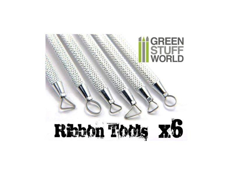 Green Stuff World GSW 6x Mini Ribbon Sculpting Tool Set