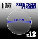 Green Stuff World GSW 12x Resin Token Stickers 40mm