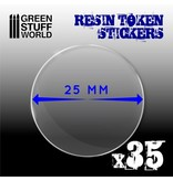 Green Stuff World GSW 35x Resin Token Stickers 25mm