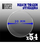 Green Stuff World GSW 54x Resin Token Stickers 20mm