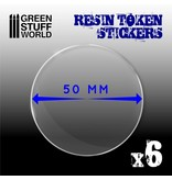 Green Stuff World GSW 6x Resin Token Stickers 50mm