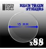 Green Stuff World GSW 88x Resin Token Stickers 15mm