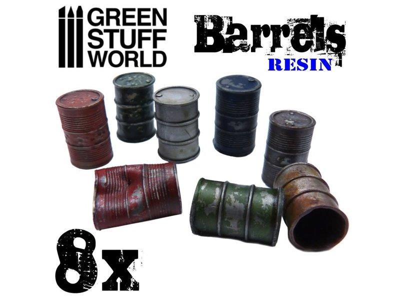 Green Stuff World GSW 8x Resin Barrels