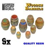 Green Stuff World GSW 9x Resin Wooden Barrels