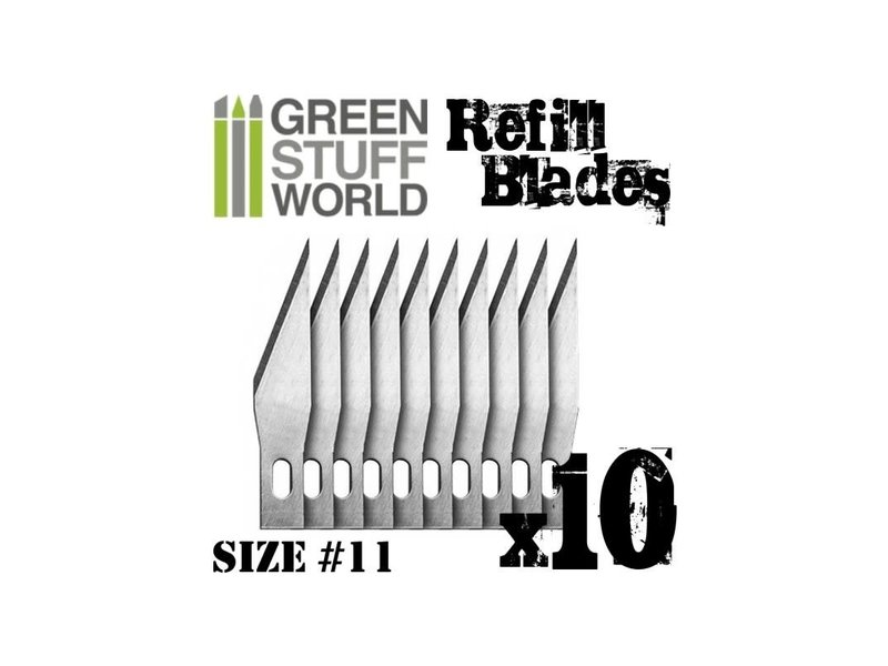 Green Stuff World GSW 10x Hobby Knife Blade Refill