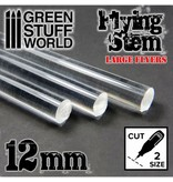 Green Stuff World GSW Acrylic Rods - Round 12 mm CLEAR