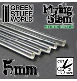 Green Stuff World GSW Acrylic Rods - Round 5 mm CLEAR