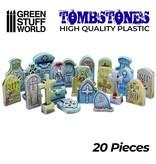 Green Stuff World GSW 20x Gravestones Plastic Set