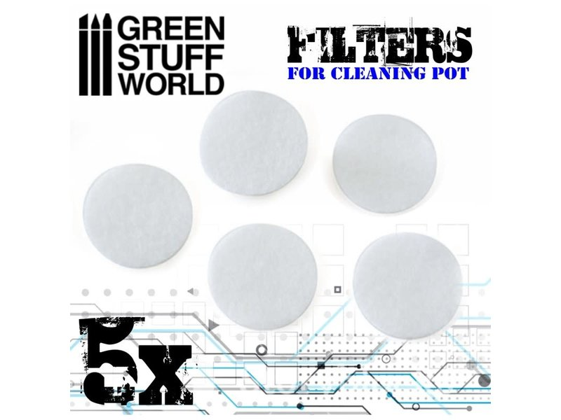 Green Stuff World GSW Airbrush Cleaning Pot Filters