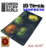 Green Stuff World GSW 2D Neoprene Terrain - Forest with 4 trees