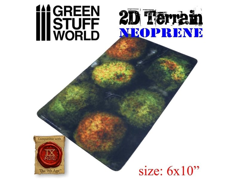 Green Stuff World GSW 2D Neoprene Terrain - Forest with 6 trees