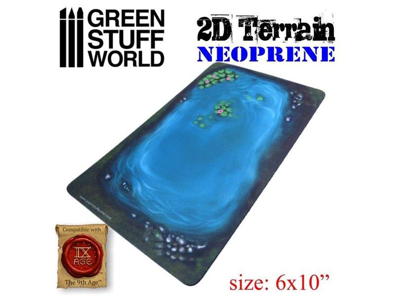 Green Stuff World GSW 2D Neoprene Terrain - Lake with leaves