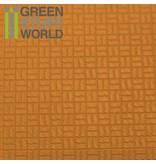 Green Stuff World GSW ABS Plasticard - OFFSET CURVED Textured Sheet - A4