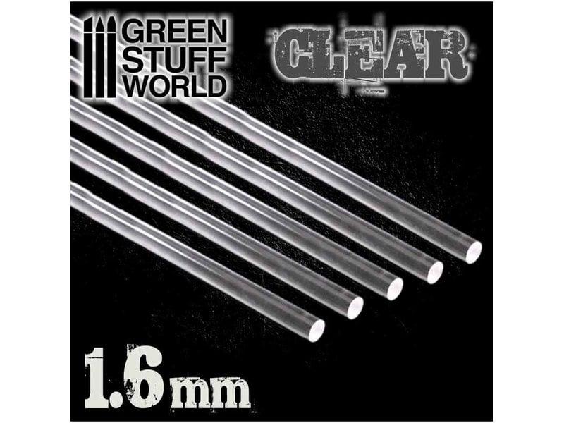 Green Stuff World GSW Acrylic Rods - Round 1.6 mm CLEAR