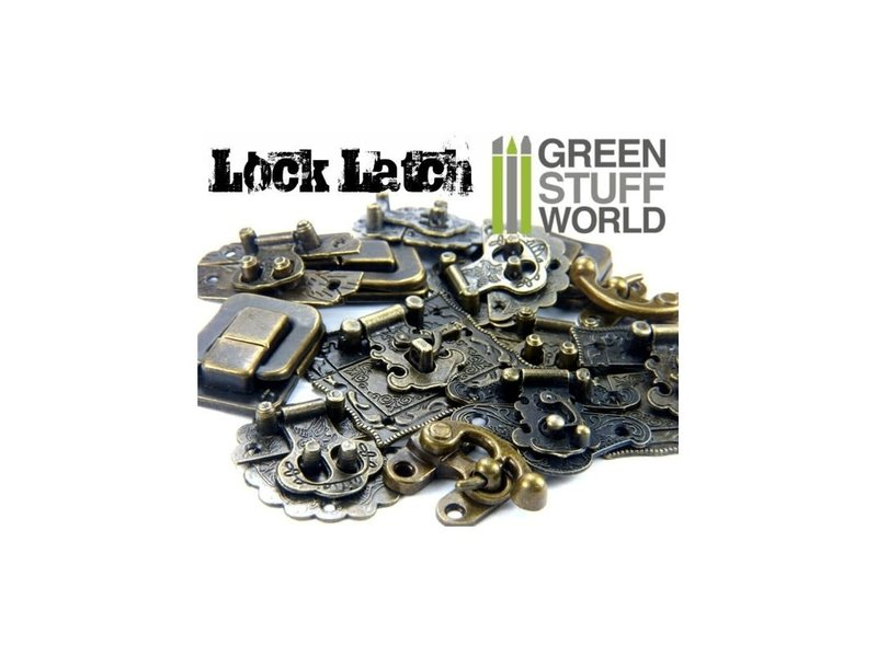 Green Stuff World GSW 6x Box Locks ANTIQUE BRONZE - Catch Latches