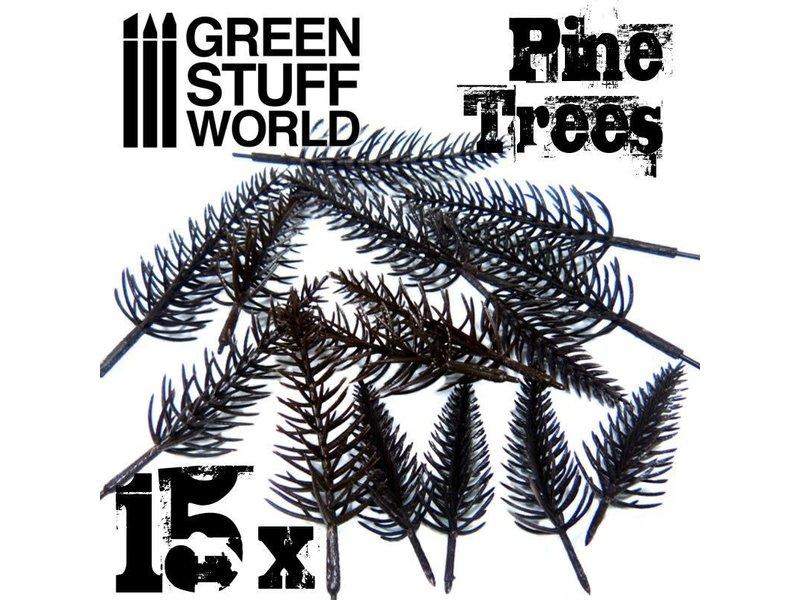 Green Stuff World GSW 15x Model PINE Tree Trunks