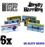 Green Stuff World GSW 6x Jersey Barriers