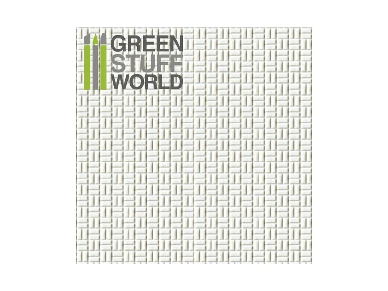 Green Stuff World GSW ABS Plasticard - OFFSET RECTANGLE Small