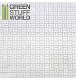 Green Stuff World GSW ABS Plasticard - OFFSET RECTANGLE Textured Sheet - A4