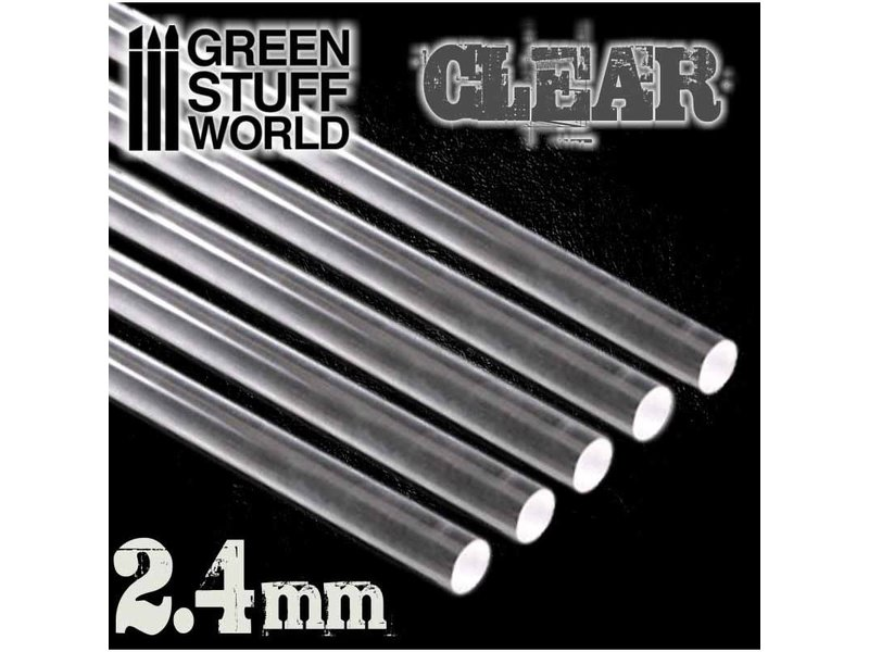 Green Stuff World GSW Acrylic Rods - Round 2.4 mm CLEAR