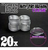 Green Stuff World GSW Acrylic Bases - Round 25 mm CLEAR