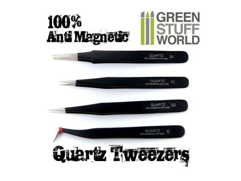 Green Stuff World GSW 100% Anti-magnetic QUARTZ Tweezers SET
