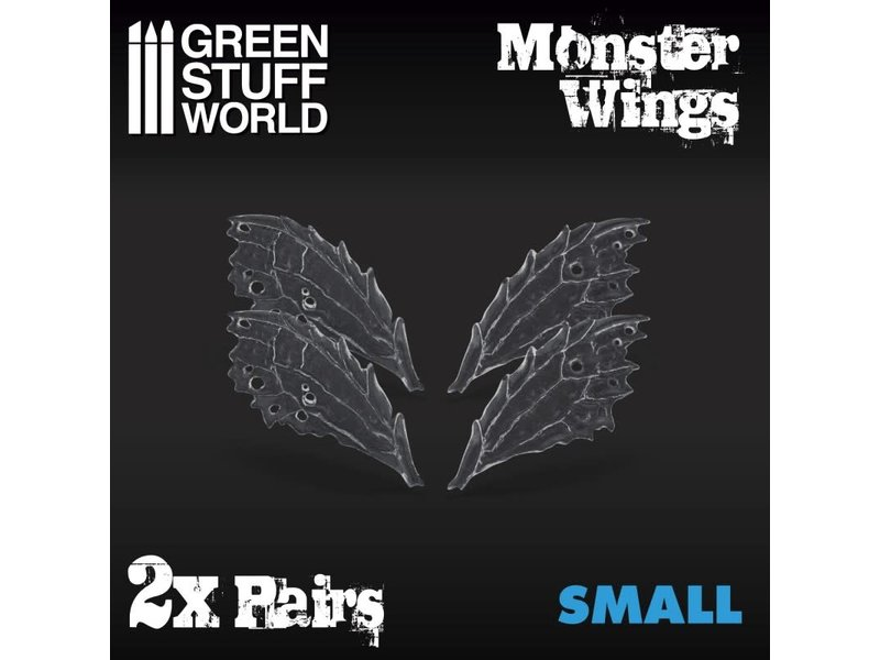 Green Stuff World GSW 2x Resin Monster Wings - Small