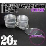 Green Stuff World GSW Acrylic Bases - Round 32 mm CLEAR