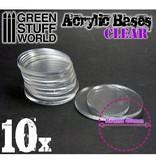 Green Stuff World GSW Acrylic Bases - Round 40 mm CLEAR